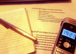 Wat te doen als je gebeld wordt voor een interview?